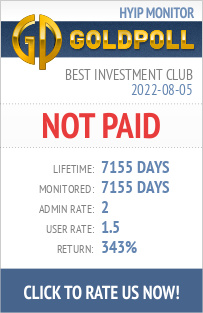 Best Investment Club HYIP Details on GoldPoll