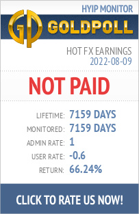 Hot Fx Earnings HYIP Details on GoldPoll