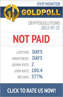 CryptoSolutions HYIP Details on GoldPoll