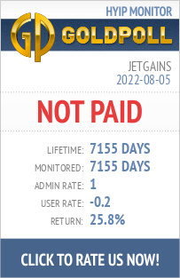 Jetgains HYIP Details on GoldPoll