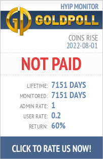 Coins Rise HYIP Details on GoldPoll