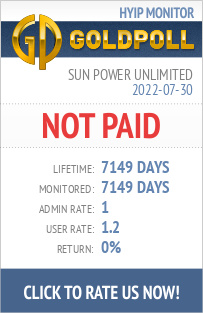 Sun Power Unlimited HYIP Details on GoldPoll