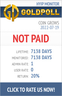 Coin Grows HYIP Details on GoldPoll