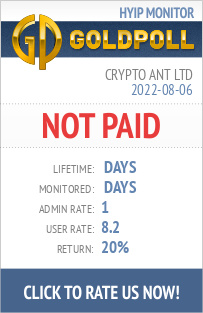 Crypto Ant Ltd HYIP Details on GoldPoll