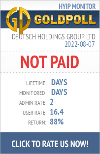 Deutsch Holdings Group Ltd HYIP Details on GoldPoll