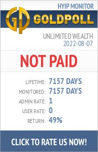 Unlimited Wealth HYIP Details on GoldPoll
