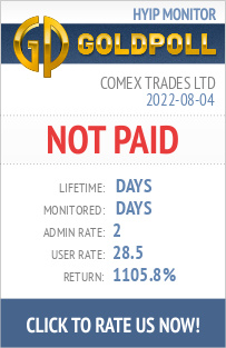 Comex Trades Ltd HYIP Details on GoldPoll