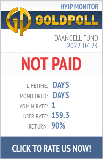 Daancell Fund HYIP Details on GoldPoll