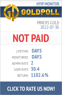 Miners Gold HYIP Details on GoldPoll