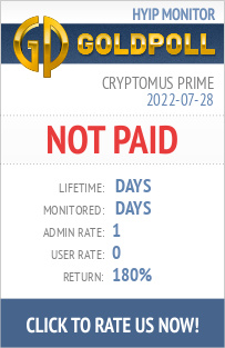 Cryptomus Prime HYIP Details on GoldPoll