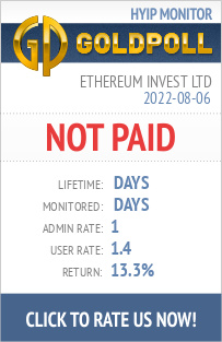Ethereum Invest Ltd HYIP Details on GoldPoll